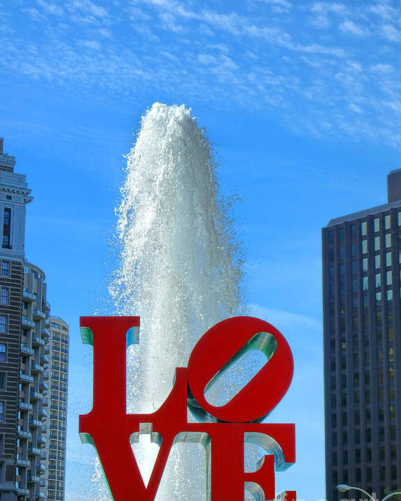 Philadelphia Poster featuring the photograph Love Park by Olivier Le Queinec
