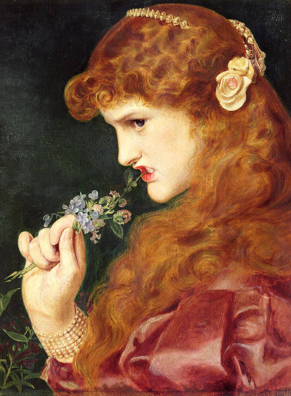 Female Poster featuring the painting Loves Shadow, 1867 by Anthony Frederick Augustus Sandys