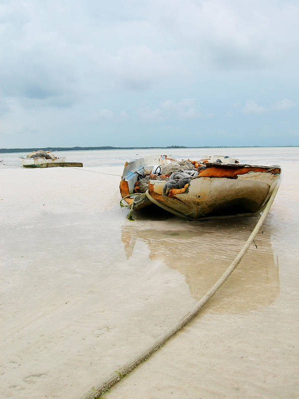 Boat Poster featuring the photograph Low Tide 3 by Sarah-jane Laubscher