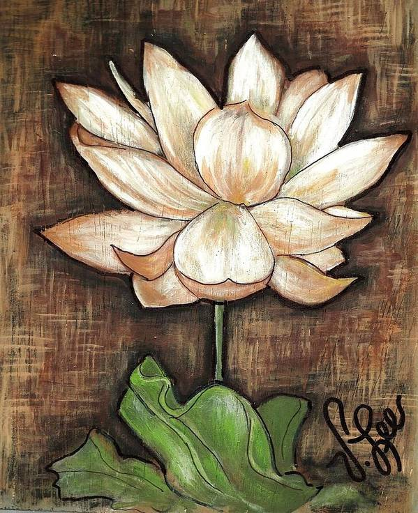 Flower Poster featuring the painting Lure Of The Lotus by VLee Watson
