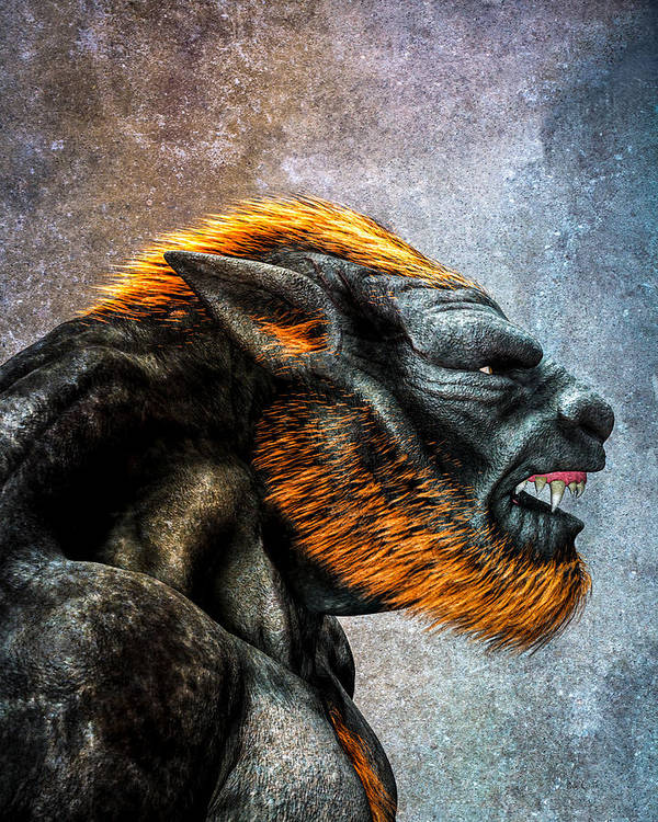 Lycan Poster featuring the digital art Lycan by Bob Orsillo