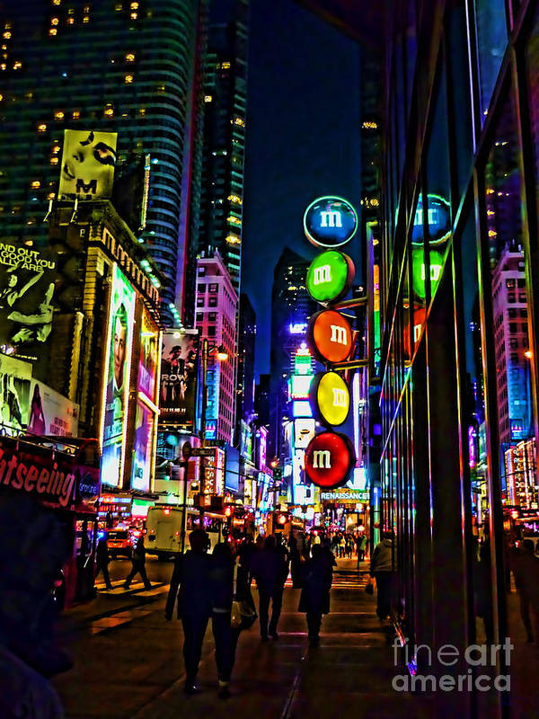 M&m's Poster featuring the photograph m and m store NYC by Jeff Breiman