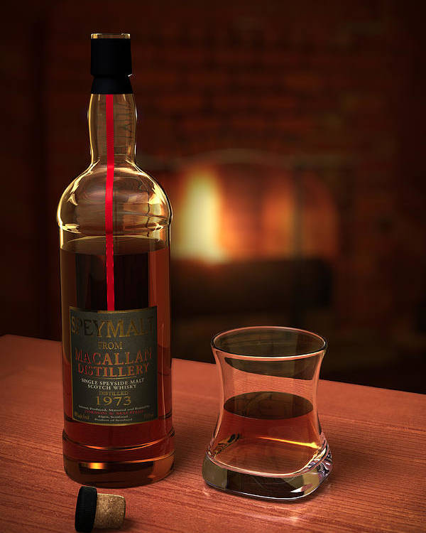 3d Poster featuring the photograph Macallan 1973 by Adam Romanowicz