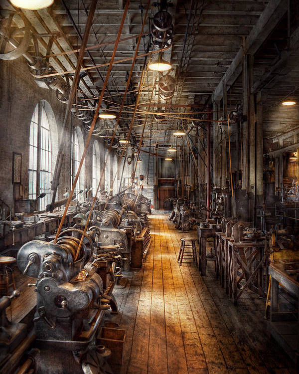 Machinists Poster featuring the photograph Machinist - Welcome To The Workshop by Mike Savad