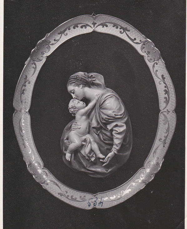 Church Poster featuring the pyrography Madonna And Child by Allan Koskela