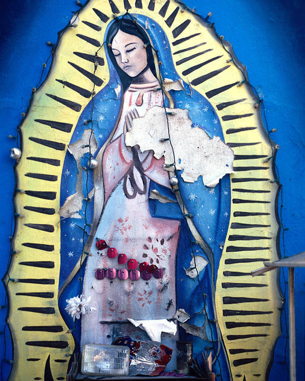 Juarez Poster featuring the photograph Madonna Painting by Mark Goebel