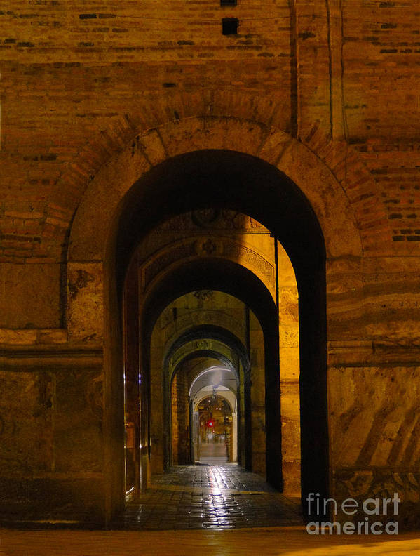 Immaculate Poster featuring the photograph Magnificent Arches by Al Bourassa