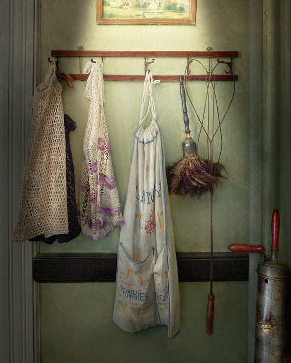 House Keeper Poster featuring the photograph Maid - Always So Much Housework by Mike Savad