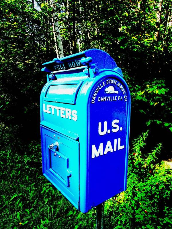 mail Box Poster featuring the photograph Mail Box by Will Boutin Photos