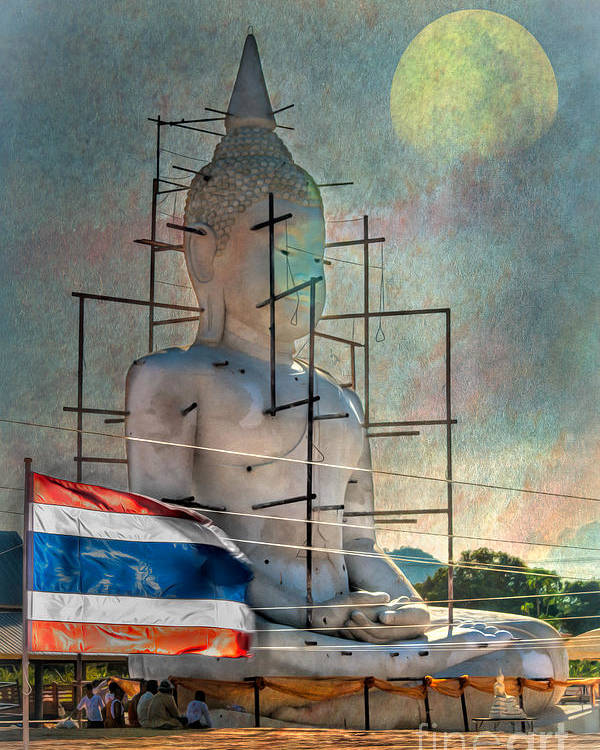 Hdr Poster featuring the photograph Making Buddha by Adrian Evans