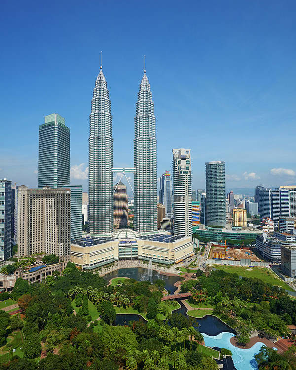 Malaysia Kuala Lumpur Klcc Petronas Poster