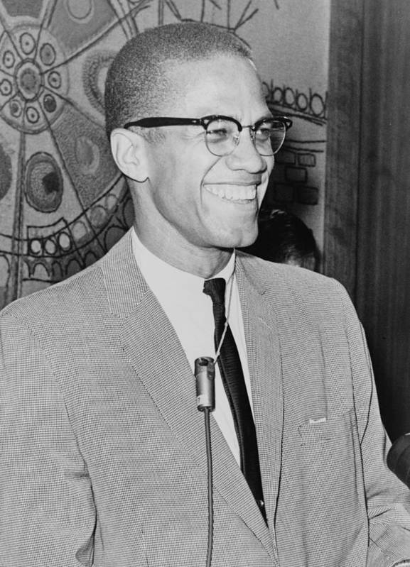 Malcolm X Poster featuring the digital art Malcolm X by Ed Ford