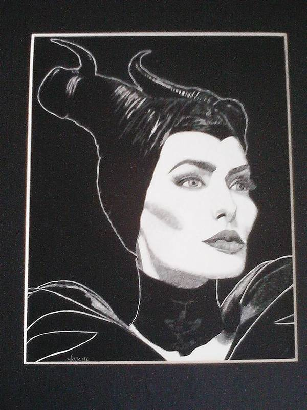 Maleficent Poster featuring the drawing Maleficent2 by Jackie Wilson