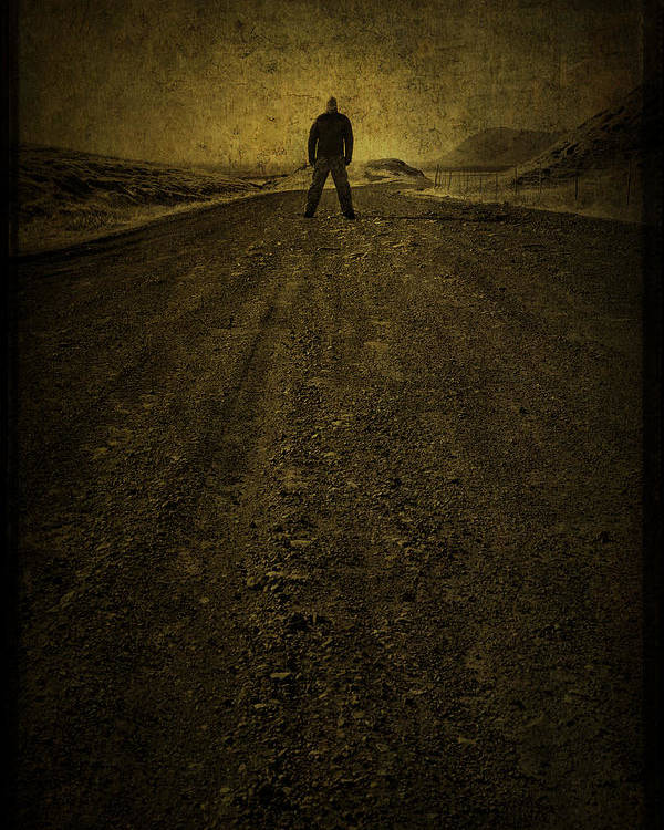 Man Poster featuring the photograph Man On A Mission by Evelina Kremsdorf