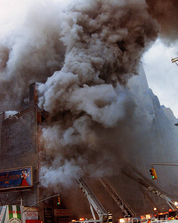 Fdny Poster featuring the photograph Manhattan 6th Alarm Fire by Steven Spak