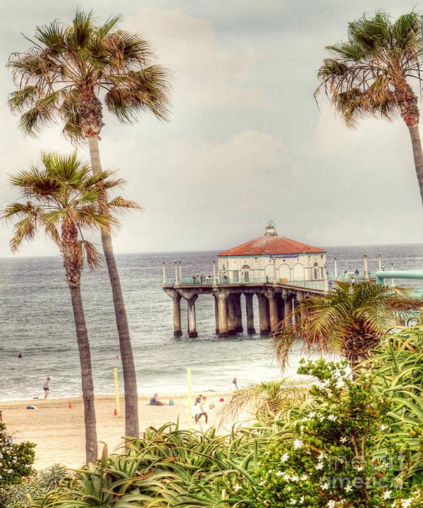 Manhatten Beach Poster featuring the photograph Manhattan Beach Pier by Juli Scalzi
