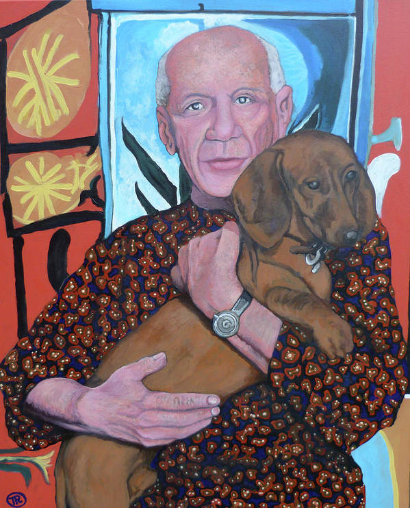 Man's Best Friend Poster featuring the painting Man's Best Friend by Tom Roderick