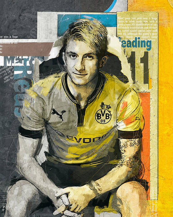 Marco Reus B Poster By Corporate Art Task Force