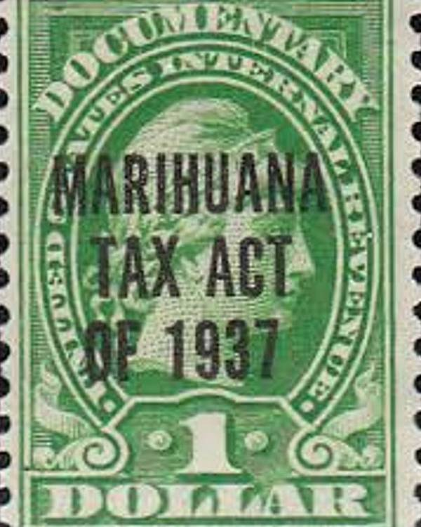 Marihuana Tax Act Of 1937 Poster