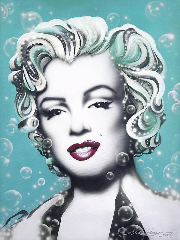 Marilyn Monroe Beautiful Art Rendering 8 x 10 Photo