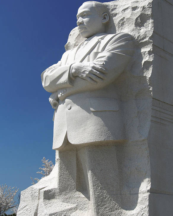 Landmarks Poster featuring the photograph Martin Luther King Jr. Memorial by Mike McGlothlen