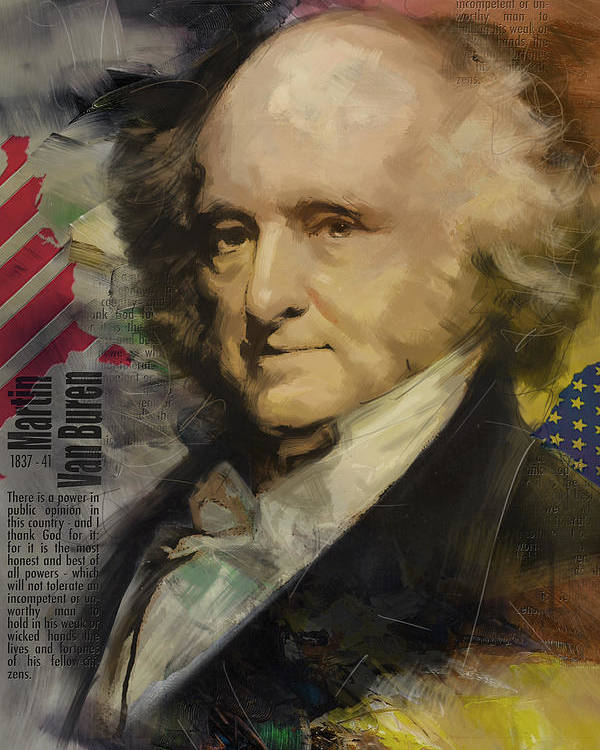 Martin Van Buren Poster featuring the painting Martin Van Buren by Corporate Art Task Force
