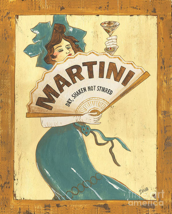 Martini Poster featuring the painting Martini Dry by Debbie DeWitt