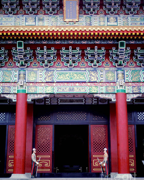 Martyrs' Shrine Poster featuring the photograph Martyrs' Shrine In Taipei by Anna Lisa Yoder