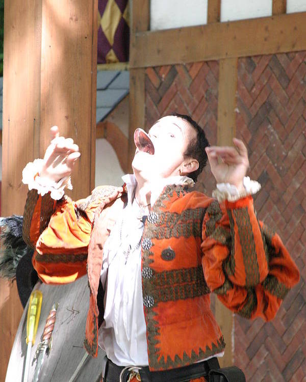 Maryland Poster featuring the photograph Maryland Renaissance Festival - Johnny Fox Sword Swallower - 121219 by DC Photographer