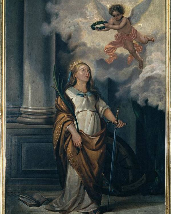 Catherine Poster featuring the photograph Massimo Diodato, St Catherine by Everett