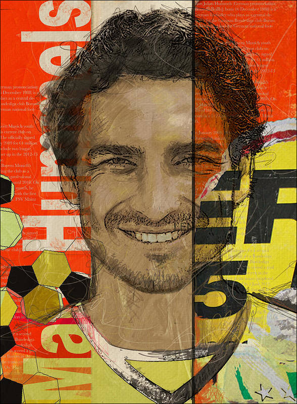 Mats Hummels Poster featuring the painting Mats Hummels by Corporate Art Task Force