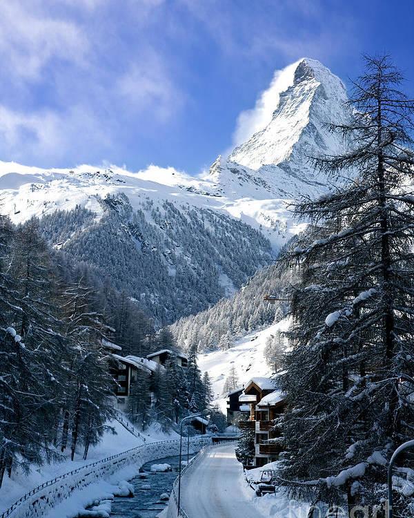 Mountain Poster featuring the photograph Matterhorn by Brian Jannsen