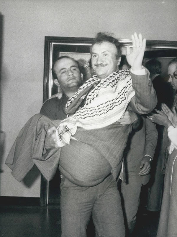 retro Images Archive Poster featuring the photograph Mayor Of Israeli Occupied Nablus Arrives In London For by Retro Images Archive