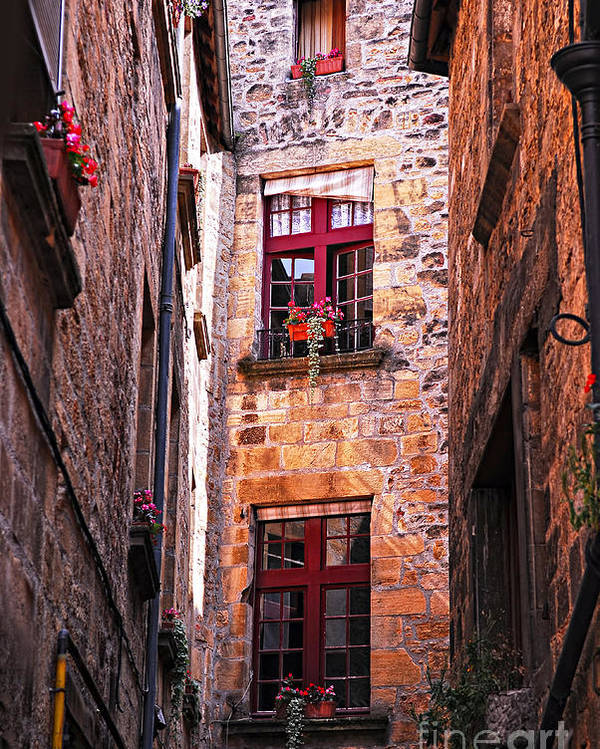 Sarlat Poster featuring the photograph Medieval Architecture by Elena Elisseeva