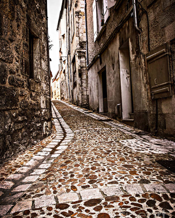 Perigueux Poster featuring the photograph Medieval Street In France by Elena Elisseeva