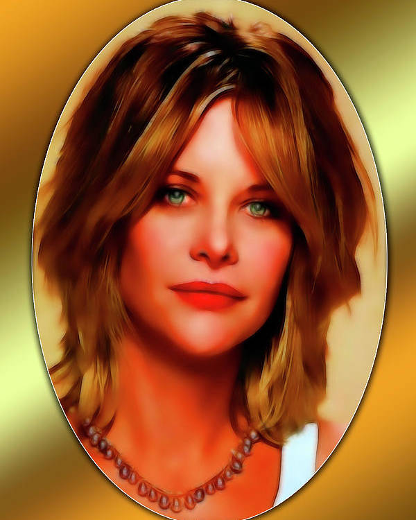 Meg Ryan Poster featuring the mixed media Meg Ryan by Tyler Robbins