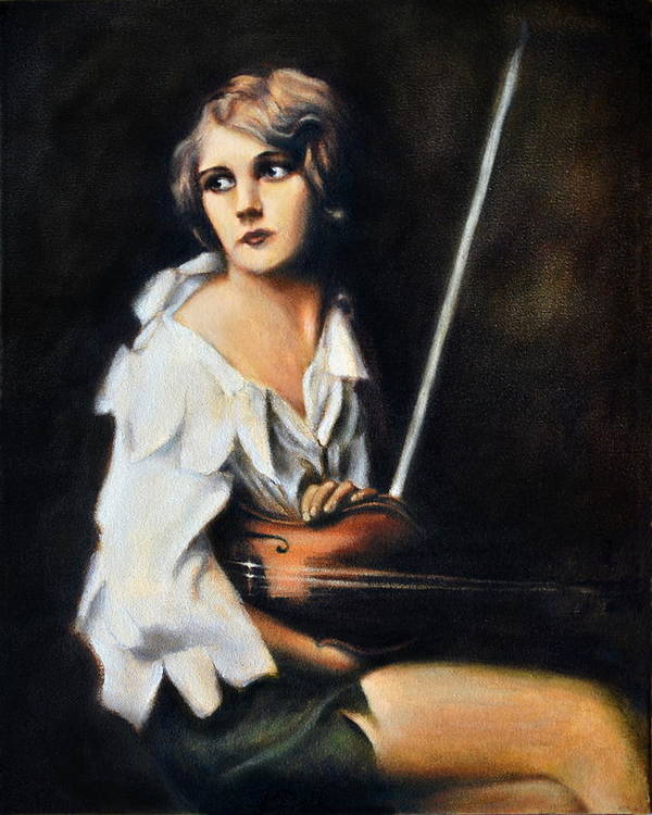 Realistic Poster featuring the painting Melody by Maxx Phoenixx