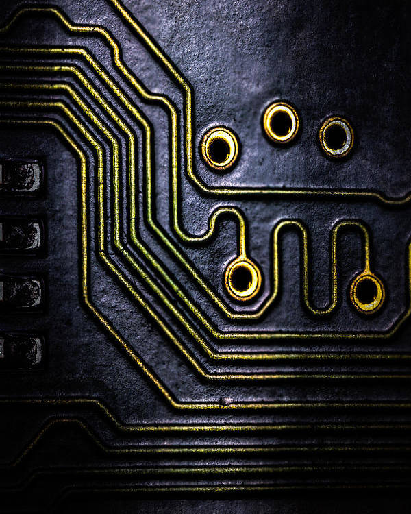 Abstract Poster featuring the photograph Memory Chip Number Two by Bob Orsillo