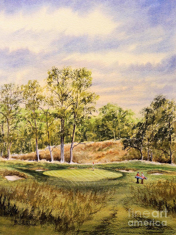 Golf Poster featuring the painting Merion Golf Club by Bill Holkham