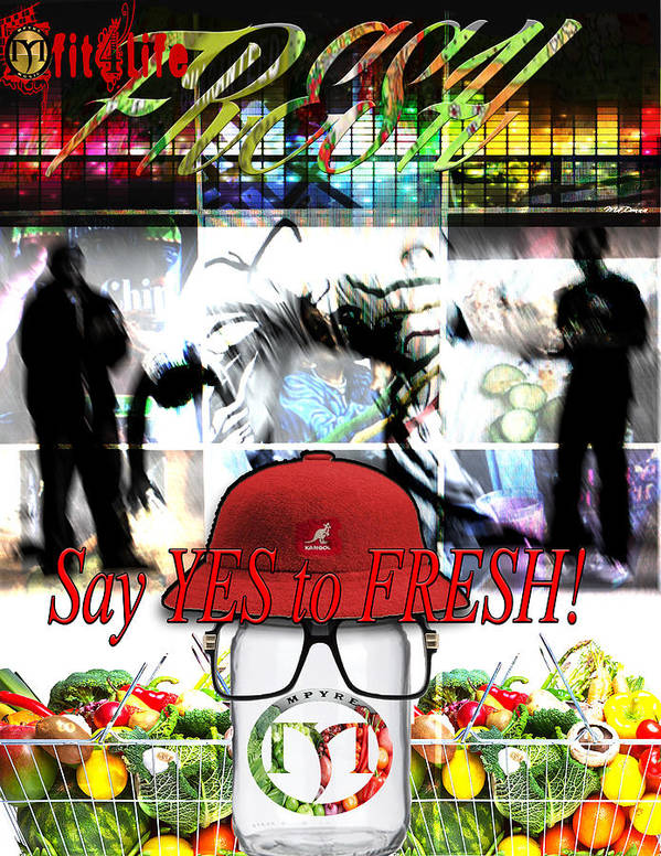 Live Free Poster featuring the digital art Mfit4life Mfresh by Jemel Smith