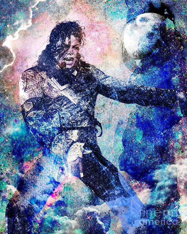 Rock Poster featuring the painting Michael Jackson Original Painting by Ryan Rock Artist