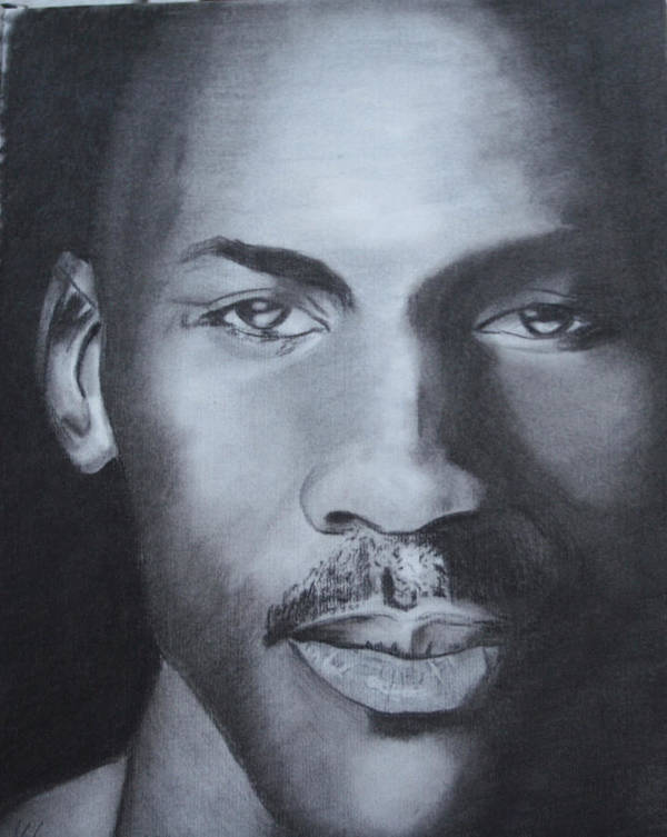 Chicago Poster featuring the drawing Michael Jordan by Aaron Balderas