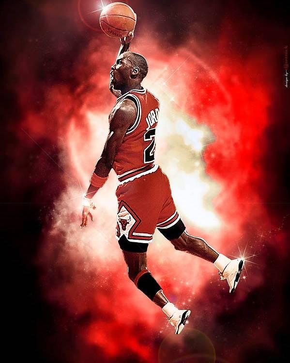 Salvador Poster featuring the photograph Michael Jordan by NIcholas Grunas Cassidy
