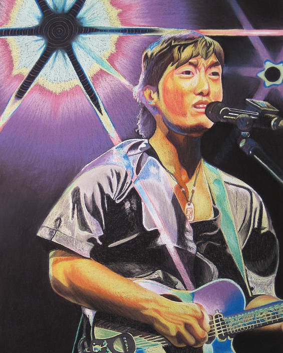 Michael Kang Poster featuring the drawing Micheal Kang by Joshua Morton