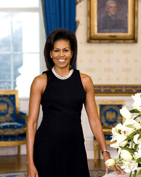 Admiral Poster featuring the digital art Michelle Obama by Official White House Photo