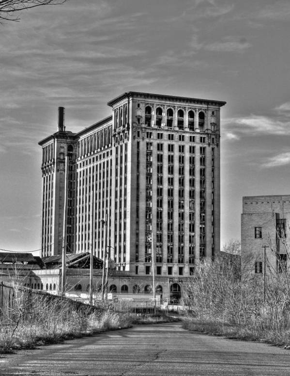 Michigan Central Poster featuring the photograph Michigan Central Station by Nicholas Grunas
