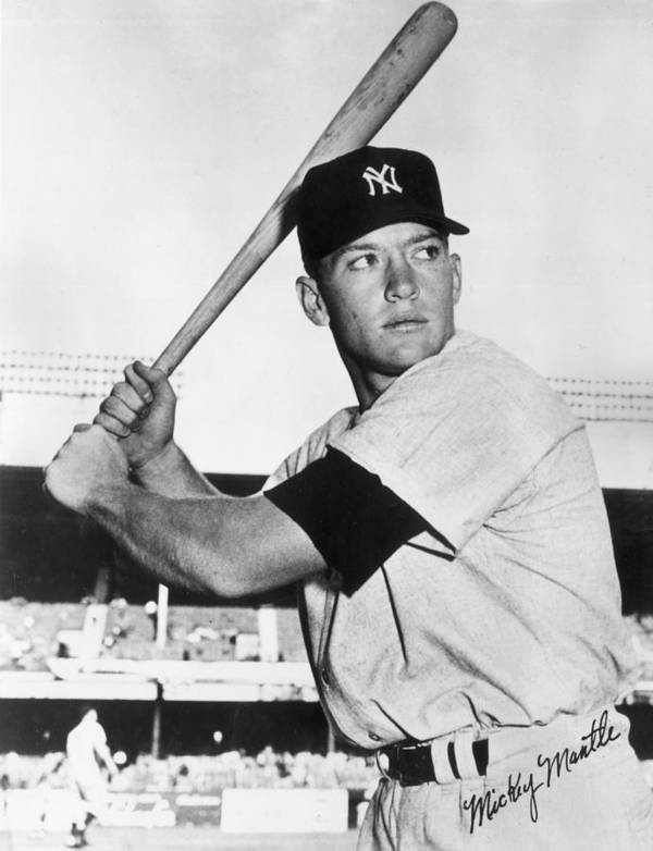Mickey Poster featuring the photograph Mickey Mantle At-bat by Gianfranco Weiss