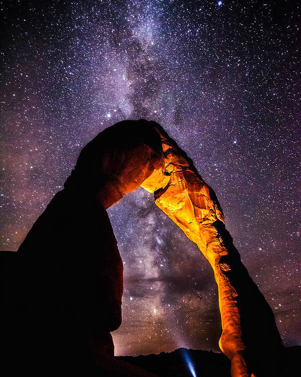Arches National Park Poster featuring the photograph Milky Way Explorer by Darren White