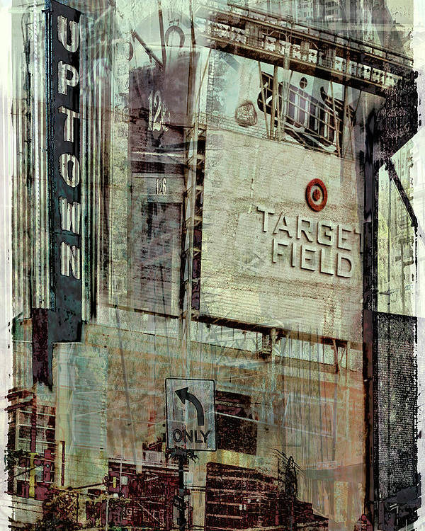 Target Field Poster featuring the digital art Minneapolis Area Collage by Susan Stone