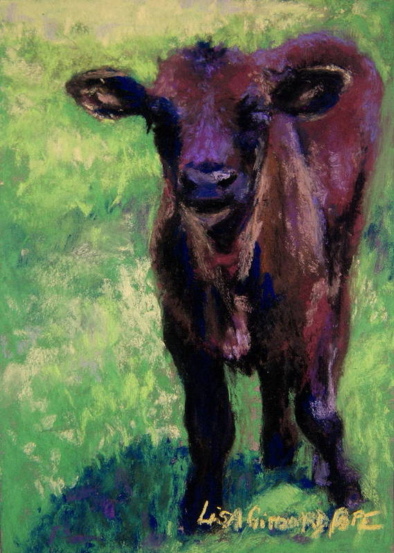 Cow Poster featuring the painting Minnie by Lisa Pope